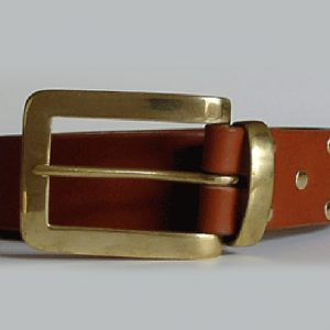 English bridle leather belt ~ Lossie ~ 1.75 inches wide ~ tan vegetable tanned leather with a solid brass buckle and keeper.