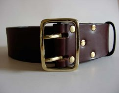 EXTRA WIDE LEATHER BELT