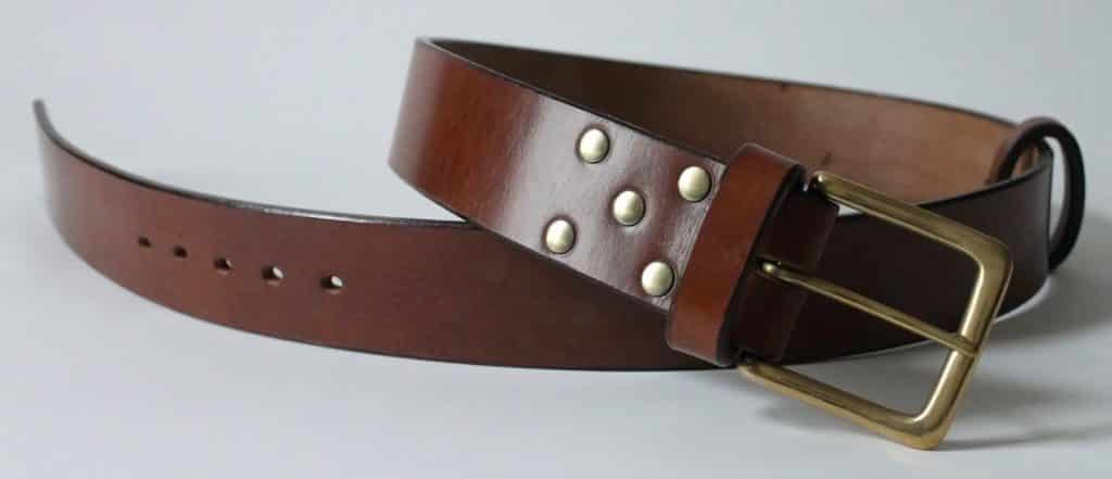 Handmade leather belt, 2 inch wide