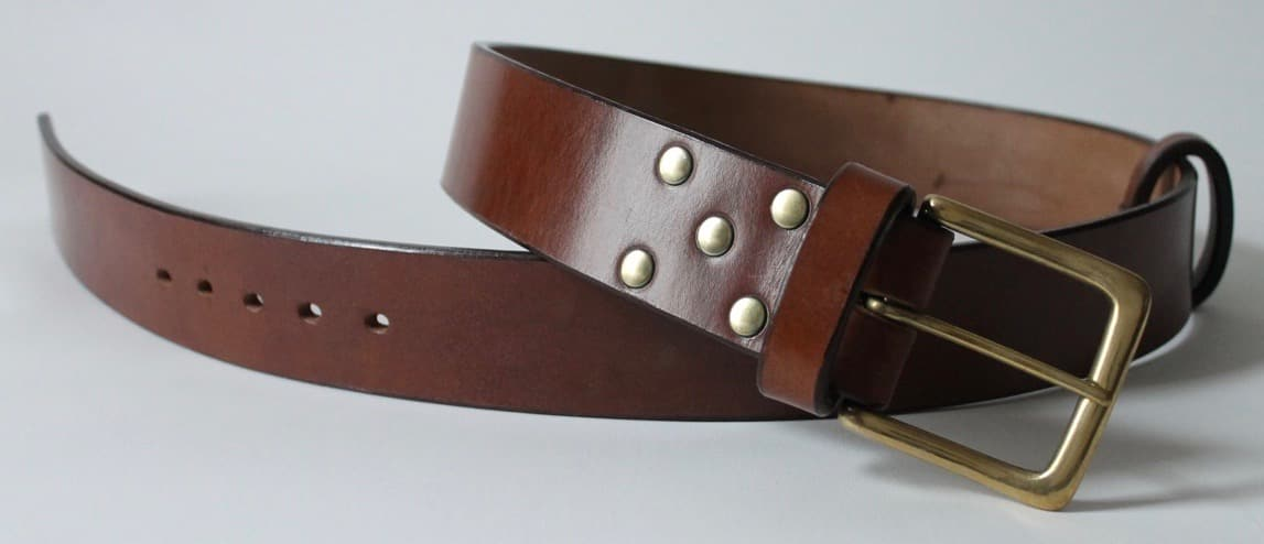 Custom handmade English bridle leather belts