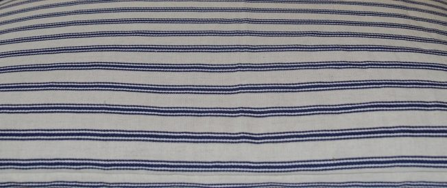 Traditional Japanese buckwheat pillow organic linen with cotton ticking stripe - Blue