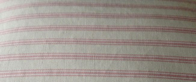 Organic buckwheat husk orthopaedic pillow linen with cotton ticking strip Pale pink