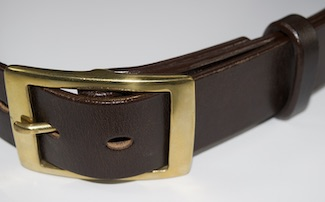 Detail of belt, 3 thicknesses of leather