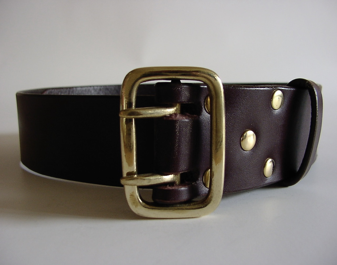 FORTH double-prong-leather-belt-buckle-military-style-1-62-inches-wide/